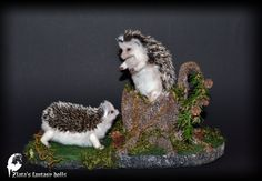 Stand stump for 2 small faux taxidermy art by ZlatasFantasyForest