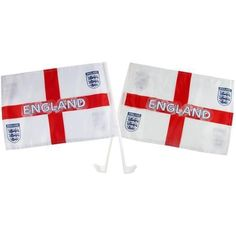 Official FA World Cup England Football Twin Pack Of Car Flags St George Design in Sports Memorabilia, Football Memorabilia, Pennants/ Flags | eBay #HarvardMills #LordOfTheLinens #football #merchandise #England #EnglandFootball #FA #FAWorldCup #sport #support #team