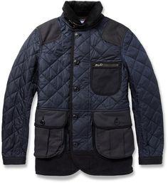 Junya Watanabe Panelled Quilted-Nylon Coat