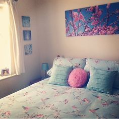 #duck #egg #blue #bedroom #design #living #blossoms #kitsch #cute #area #interior