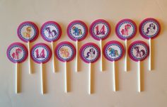 My Little Pony Birthday Party Cupcake Toppers