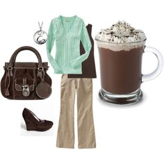 Mint and brown
