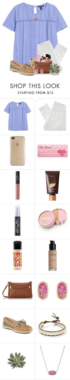 """What are some of  y'alls favorite makeup items?"" by jeh-shev ❤ liked on Polyvore featuring Violeta by Mango, Nobody Denim, Speck, NARS Cosmetics, tarte, Urban Decay, jane, MAC Cosmetics, Jack Rogers and Kendra Scott"