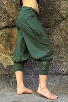 Pedal Pusher PantsWomen's PantsCargo capricute by aurorawear1, $60.00,,green and gray, size small or med
