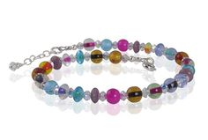 Prismatic Glass Crystal Beaded Anklet – SWCreations