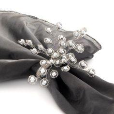 Firethorn Napkin Ring - Set of 4 - Silver from Z Gallerie