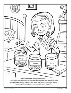 i choose the right by living gospel principles lds the friend magazine coloring page - A Child God Coloring Page