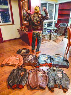 #men #style #leather #jackets Leather Flight Jacket, Biker Leather, Leather Men, Leather Jackets, Mode Masculine, Nose Art, Vintage Leather, Vintage Men, Leather Fashion