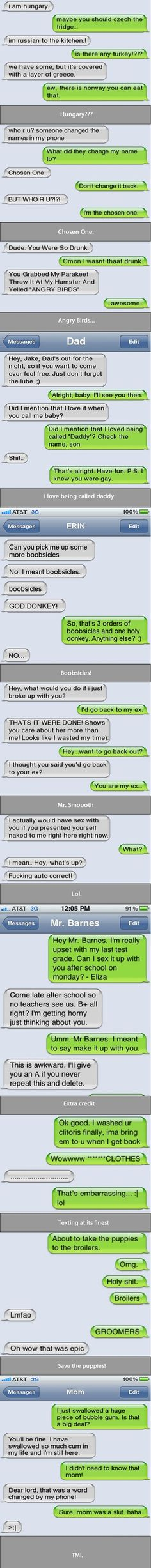 LOL, If I got a text like this...