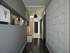 Corredor, decorando o corredor, Casa Casada, revestimento alto relevo