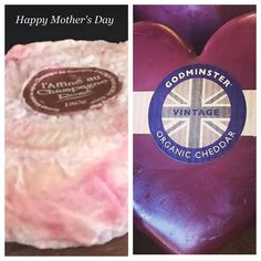 Something savoury for mum. The beautiful #triplecream ##washed in #pinkchampagne from The #Ardennes France #Organic #Godminster from the UK. #cheeselovers  #dandenongranges  #olinda #mtdandenong