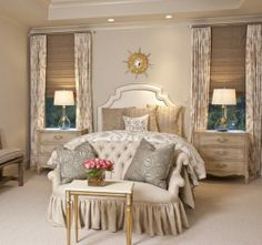 Cream and Gold bedroom -- gorgeous !!, Go To www.likegossip.com to get more Gossip News!