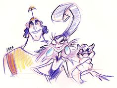 The Emperor's New Groove - Yzma and Kronk by area32 on deviantART