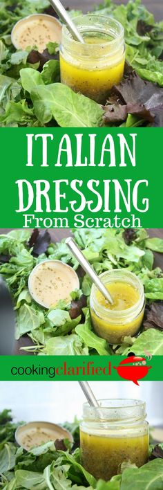 Italian Dressing from Scratch - This Italian dressing will make you forget all about the bottled stuff (or that stuff in the packet) you��ve been eating.