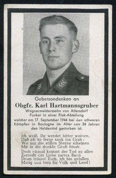 orig. WK2 STERBEBILD - DEATH CARD - Boulogne / Calais - Frankreich 1944