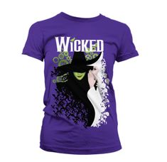 - Wicked the Broadway Musical - Two Witches Ladies T-Shirt - Musicals, Wicked, T Shirts For Women, Lady, Tees, Mens Tops, Cotton, Theatre, Vibrant