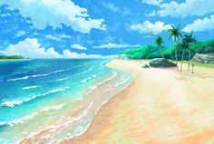 Anime Scenery Wallpaper, Anime Backgrounds Wallpapers, Ocean Wallpaper, Nature Wallpaper, Cute Wallpapers, Scenery Background, Editing Background, Cartoon Background, Video Background