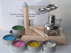EggstrArt Egg Decorating Kit with Metal Alcohol Burner for
