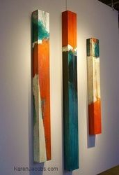 pylons - KAREN JACOBS  contemporary and abstract paintings.  Love Karen's art - especially her pylons.