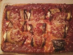 Eggplant Involtini - I made the recipe without the breadcrumbs and without the cream. I short cut the eggplant by pan searing in olive oil.