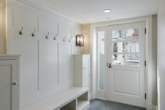 Mudroom Bench - Design photos, ideas and inspiration. Amazing gallery of interior design and decorating ideas of Mudroom Bench in laundry/mudrooms, kitchens by elite interior designers. Mudroom Storage Bench, Mudroom Laundry Room, Locker Storage, Mudroom Cubbies, Mudroom Cabinets, Shoe Storage, Hallway Storage, Cubby Bench, Entryway Cabinet