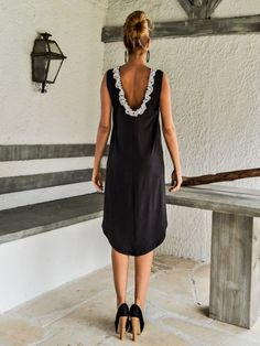 Dark Gray Asymmetric Dress - Blouse - Tunic / Short Front Long Back Dress / Asymmetric Plus Size Dress / Oversize Dress / #35082  This elegant and comfortable dress - tunic is a turn around creation. it looks as stunning with a pair of heels as it does with flats. You can wear it as a blouse with pants, as a dress for a special occasion or it can be your everyday comfortable dress. >>> SEE COLOR CHART HERE : https://www.etsy.com/listing/235259897/viscose-color-chart?ref=shop_home_active_4…