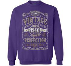 Vintage Made In 1940 Birthday Gift Idea T Shirt #birthdaygifts