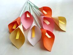 DIY Paper Calla Lily #howto #tutorial