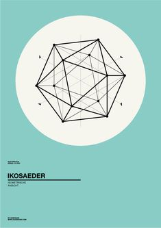 Clean geometric poster design by Albert Exergian