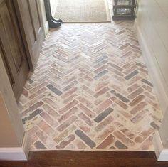 Brick paver entryway whitewash | Flooring Ideas | Floor Design Trends