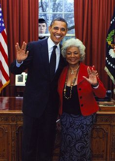 Love it! 2 First Black Americans:President Obama and Nichelle Nichols