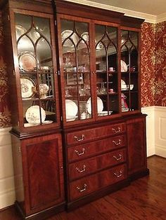 2002 Cherry Henkel Harris Buffet China Cabinet