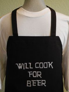 BBQ aprons for men,funny aprons for men,black aprons. uhm, women like beer!!!!