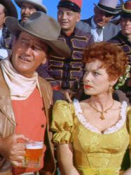 Two of my favorite actors--John Wayne and Maureen O'Hara. This picture is from McClintock, one of the funniest westerns John Wayne made.