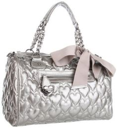 Betsey Johnson BH67820 Satchel- This bag is so cute! I saw it in a store a few days ago and love the cream color!