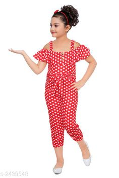 Jumpsuits Stunning Kid's Girl's Jumpsuit Fabric: Polyester Blend Sleeves: Sleeves Are Included Size:Age Group (18 Months - 24 Months) - 20 in Age Group (2 - 3 Years) - 22 in Age Group (3 - 4 Years) - 24 in Age Group (4 - 5 Years) - 26 in Age Group (5 - 6 Years) - 28 in Age Group (6 - 7 Years) - 30 in Type:Stitched  Description:It Has 1 Piece of Kid's Girl's Jumpsuit Work: Polka Dotted Country of Origin: India Sizes Available: 2-3 Years, 3-4 Years, 4-5 Years, 5-6 Years, 6-7 Years, 1-2 Years *Proof of Safe Delivery! Click to know on Safety Standards of Delivery Partners- https://ltl.sh/y_nZrAV3  Catalog Rating: ★4.1 (2101)  Catalog Name: Stunning Kid's Girl's Jumpsuits Vol 3 CatalogID_327004 C62-SC1156 Code: 992-2439548-