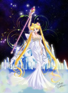 Fanart by Crisis-Cissou. - World of Eternal Sailor Moon Sailor Moon Sailor Stars, Sailor Moon Manga, Sailor Moon Crystal, Cristal Sailor Moon, Arte Sailor Moon, Sailor Saturn, Neo Queen Serenity, Princess Serenity, Sailor Princess
