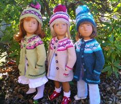 Knits by Wendy Rutherford Sasha Doll, American Girls, Knitted Dolls, Little Darlings, Happy Kids, Knits, Doll Clothes, Harajuku, Winter Hats