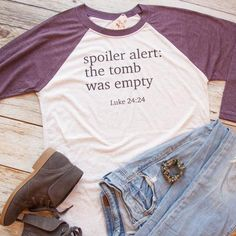 The Original! Christian Easter Shirt, Christian Shirt for Women, Christian Shirt, christian t shirt, Spoiler Alert The Tomb was Empty Christian Clothing, Christian Shirts, Christian Apparel, Hats For Women, T Shirts For Women, Clothes For Women, Women's Shoes, Easter T Shirts, Cool Style