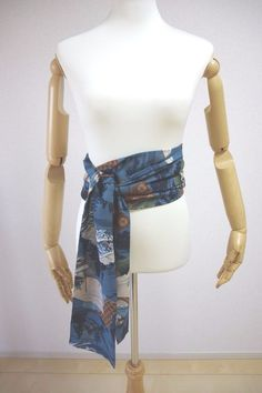 Kimono Dress Japan Japanese Handmade kimono Belt ribbon store Vintage fabric S/F