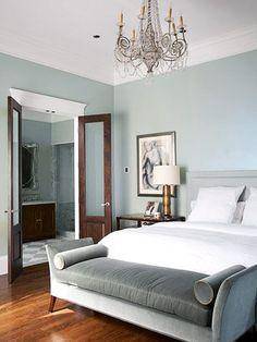 Image: http://bhg.com. #grey #chandelier