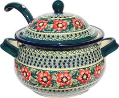 Polish Pottery Soup Tureen with Ladle Polish Stoneware Collection,http://www.amazon.com/dp/B003EAHTTI/ref=cm_sw_r_pi_dp_o1RBsb0MTNRSX1TV