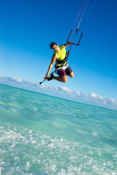 Adventurous kite-surfing   #kitesurfing   http://www.blueprinteyewear.com/