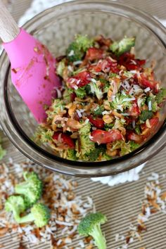 Strawberry Broccoli Salad and How to Get Your two year old to eat it!