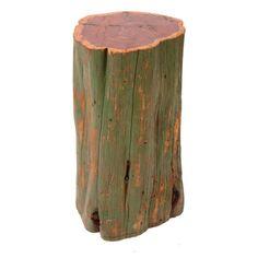 Rustique Cedar Tree Stool
