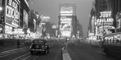 Philip Gendreau - Times Square Illuminated by Large Neon Advertising Signs, 1938 - art prints and posters