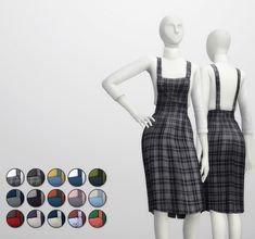 Rusty Nail: Overall skirts and turtleneck top • Sims 4 Downloads