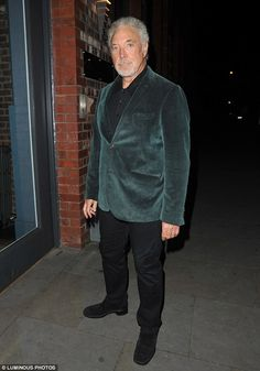 In good company: Tom Jones, who is a coach on the show, looked dapper in a green velvet blazer and black trousers Sir Tom Jones, Girls Toms, Looking Dapper, Velvet Blazer, Black Trousers, Rita Ora, Green Velvet, Forever Young, Elvis Presley