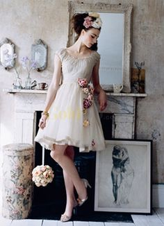 CUTE short dress with flowers