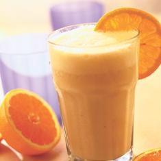 Orange Smoothie - orange, yogurt, orange juice concentrate, vanilla extract, ice